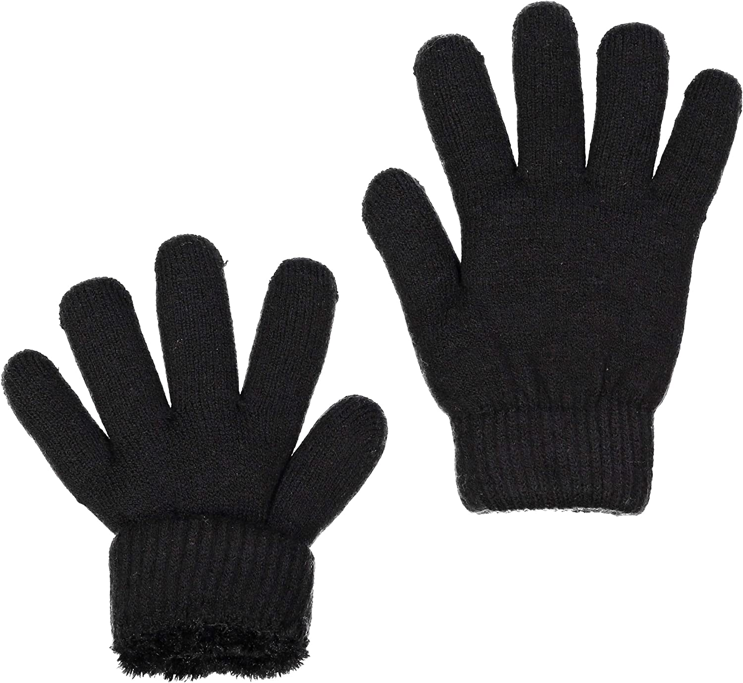ZEHU Womens At the price 1 year warranty of surprise Soft Plush Knit Faux Lining Warm Fur Gloves Winter