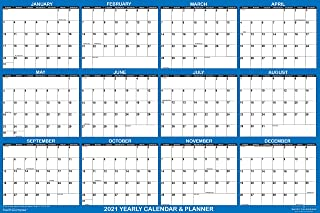 "$24 » Sponsored Ad - 32"" x 48"" SwiftGlimpse 2021 Wall Calendar Erasable Large XL Wet & Dry Erase Laminated 12 Month Annual Yearl..."