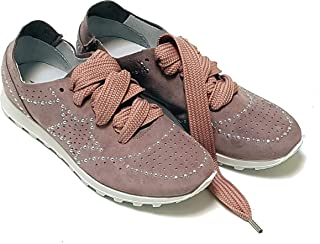 Sneakers da Donna in Crosta Camoscio Sfoderata e Traforata con Borchie (100% Made in Italy) Edizione Limitata 37 EU