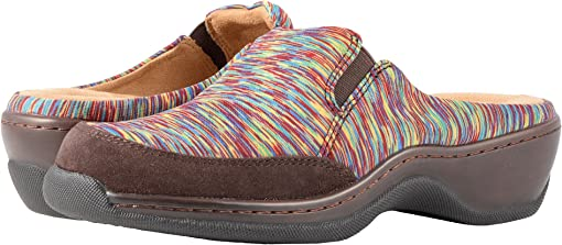 Bright Multi/Dark Brown Air Mesh Multi/Suede