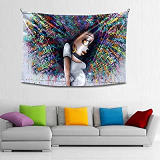 TUMOVO South African Girl Tapestry Hippie Tapestry Abstract African American Women Tapestry for Bedroom Living Dorm Room(5...
