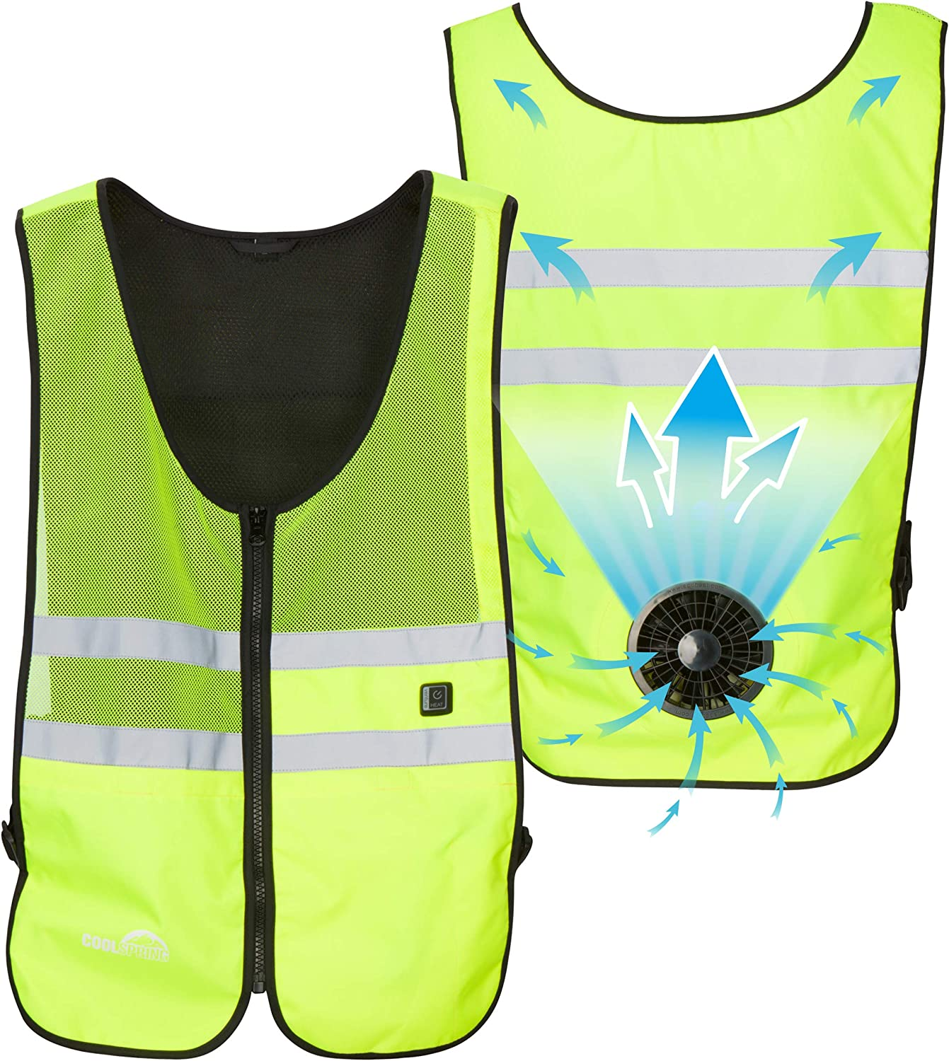 Venture Heat Wearable Fan Vest 3 Ranking TOP8 Control Air National products Circulatio Speed -