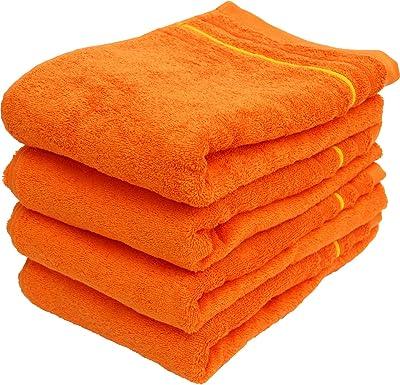 林(Hayashi) バスタオル オレンジ 約60×120cm イロイロットスマイル パーティーカラー BE605106-4P 4枚入