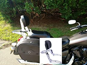 JMEI Kawasaki Vulcan VN 900 2000 Classic Custom Sissy Bar Backrest with Luggage Rack