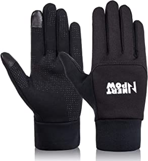 Nertpow Winter Cycling Bike Gloves, Warm Thermal Windproof Driving Running Motorcycling Touchscreen Gloves for Men Women