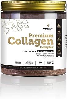 Golden Tree Premium Kollagen Komplex Pulver, 330 g, 30 Portionen, 4 Kollagen-Typen