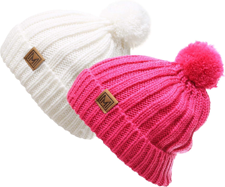famous Max 40% OFF MIRMARU Women's Oversized Chunky Soft Warm Knit Pom Bean Rib