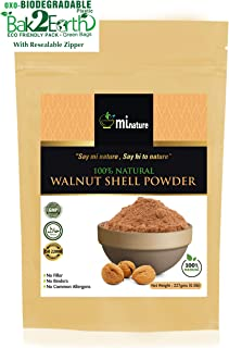 Natural Walnut Shell Powder with Eco-Friendly Pack, No Silica and Any Artificial Additives for Homemade Natural Scrub 227g, 1/2lbs, 8oz