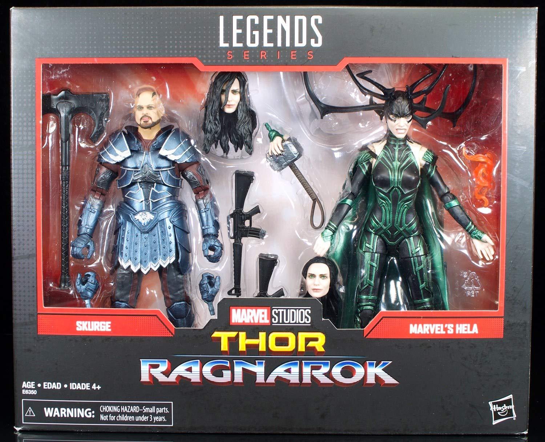 Hasbro Marvel Legends 80th Anniversary Thor Ragnarok Skurge & Hela ...