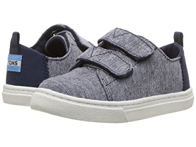TOMS Kids Lenny (Infant/Toddler/Little Kid) (Navy Slub Chambray) Kid