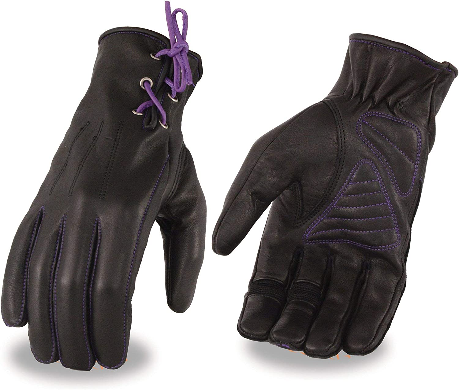 Milwaukee Large special price !! Leather MG7771 Ladies 'Laced Black Wrist' and L Purple online shop