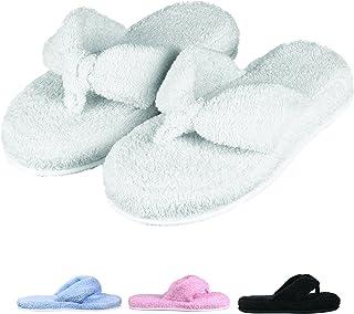 b67b752acca EuropeanSoftest Women s Cozy Super Soft Premium Memory Foam 100% Cotton  Cloth Thong Flip Flops Clog