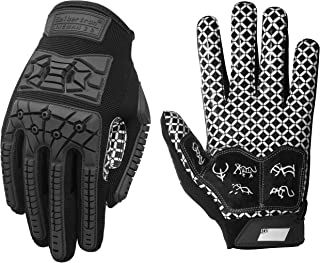 Seibertron Lineman 2.0 Padded Palm Football Receiver Gloves, Flexible TPR Impact..