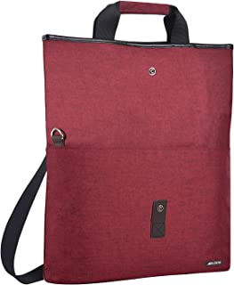 MOSISO Laptop Shouder Bag (up to 13.3 Inch), Compatible MacBook Ultrabook Notebook, Versatile Convertible Work Travel Shopping Duffel School Briefcase Handbag Crossbody Hiking Daypack, Wine Red