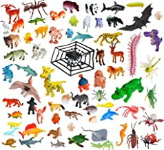 Amitasha Jungle Wild + Aquatic Animal Toys Figure Playing Set for Kids (Pack of 57)