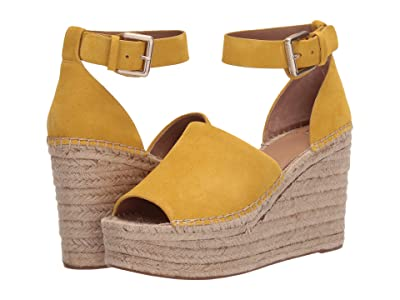 Marc Fisher LTD Adalyn Espadrille Wedge (Yellow Suede) Women
