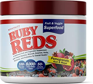 Ruby Reds | Delicious Reds Powder Fruit & Vegetable Supplement with Potent Vitamins, Minerals, Enzymes, Herbs, Nutrients a...