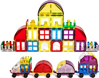 Magnetic Stick N Stack 100 piece ACCESSORY set Including Doors, Windows, Gates, Cars & train connectors ,6 Figures, Arches, and Much More