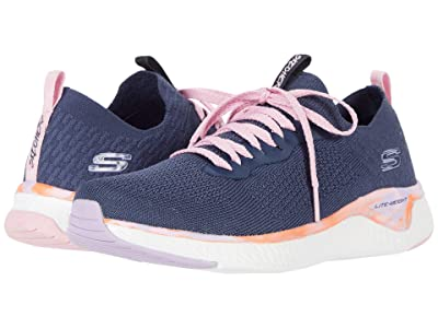 SKECHERS KIDS Sport Solar Fuse 302040L (Little Kid/Big Kid) (Navy/Multi) Girls Shoes