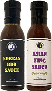 Premium   Asian Sauce Variety 2 Pack   Asian ZING Wing Sauce   KOREAN BBQ Wing Sauce   CRAFTED in Small Batches with Farm Fresh INGREDIENTS for Premium Flavor & Zest   2 Count
