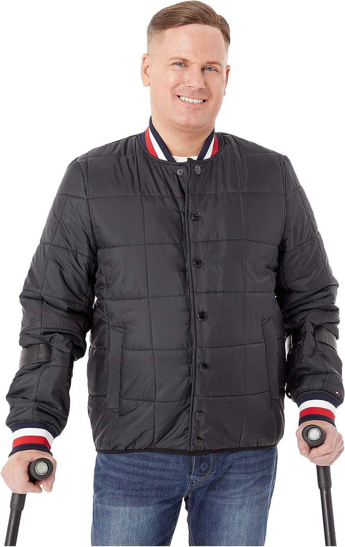 Tommy Hilfiger Men's Adaptive Modular Baseball Jacket with Hidden Magnets