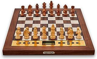 Millennium The King Performance - Jeu d'échecs électroniques pour Les esthètes. avec Cadre en Bois véritable, pièces en Bo...