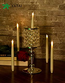 YATAI Flameless Candle Tall Battery Operated Romantic Realistic Red LED Candles Tea Lights Candles for Indoor and Outdoor ...