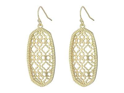 Kendra Scott Elle Earring (Gold Filigree Metal) Earring