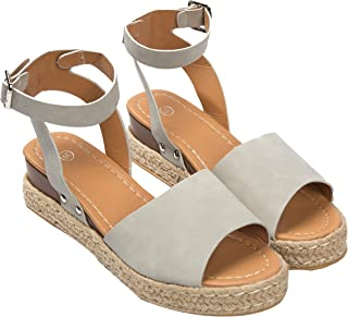 Summer Thick Bottom Wedges Shoes For Women Open Toe Ankle Strap