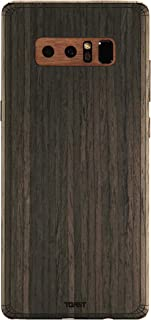 TOAST - Real Wood, Self-Adhesive Cover for  Samsung Note 8 - Ebony with Walnut