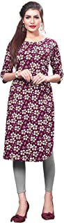 HIVA Trendz Women's Purple Color Straight Crepe Kurti_154