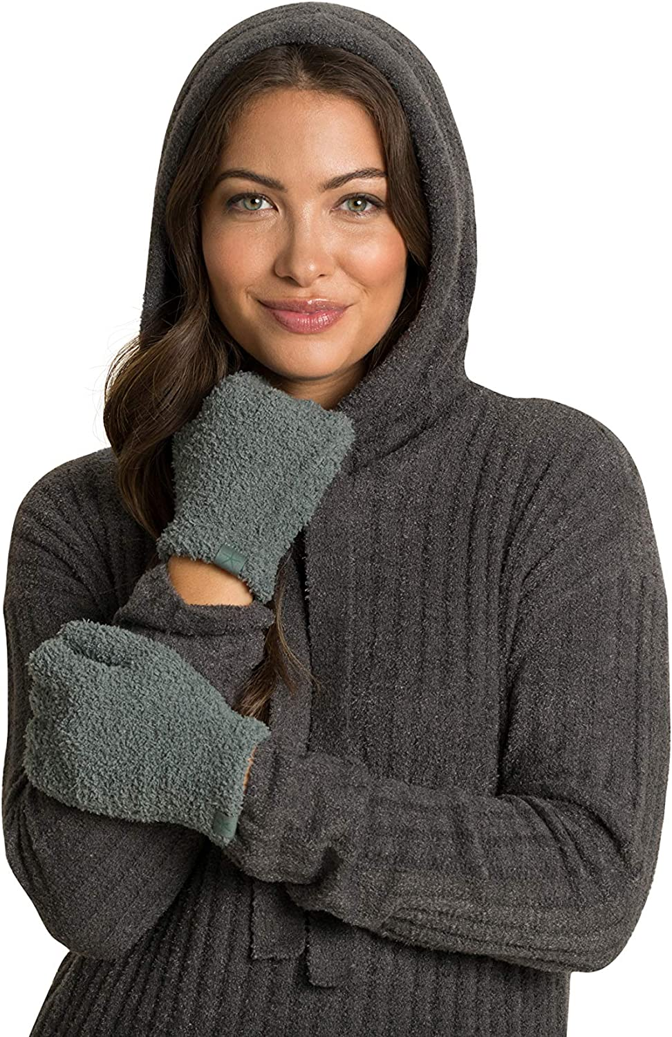 Barefoot Dreams CozyChic Gloves, Women's Fuzzy Gloves with Cuff