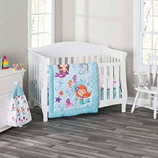 mermaid baby crib set