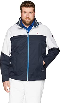 Nautica Big & Tall Big & Tall Color Block Bomber Jacket