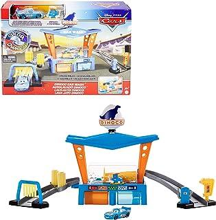 Disney Pixar Cars Color Changers Station de Lavage Dinoco avec voitures qui changent de couleur dans l'eau, Pitty et Flash...