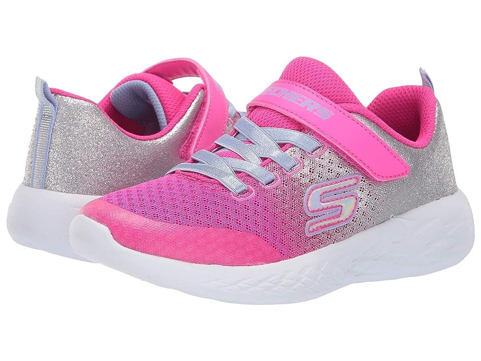 SKECHERS KIDS Go Run 600 Sprinkle (Little Kid/Big Kid) (Hot Pink/Silver) Girl