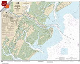 Paradise Cay Publications NOAA Chart 11512: Savannah River and Wassaw Sound 21.00 x 26.81 (SMALL FORMAT WATERPROOF)