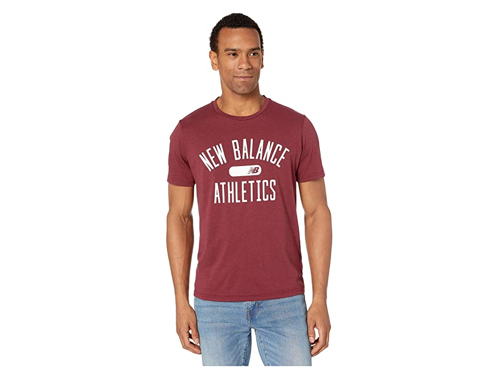 New Balance Athletics Heathertech Tee (NB Burgundy) Men