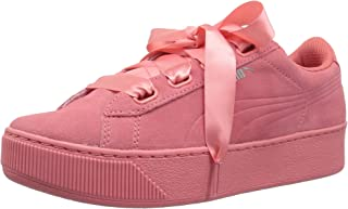 Vikky Platform Ribbon S Leather Sneaker Women Kids Trainers 366418 01 Black