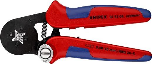KNIPEX Pinza per terminali a bussola, con regolazione automatica per crimpaggio laterale (180 mm) 97 53 04