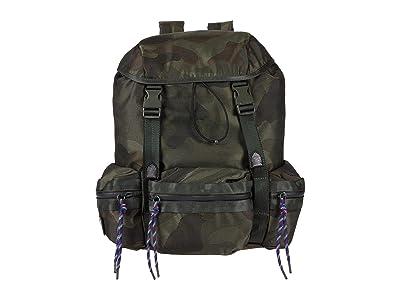 Rebecca Minkoff Downtown Nylon Backpack (Military Camo) Backpack Bags