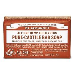 Dr. Bronner's Pure-Castile Bar Soap – Eucalyptus - 5 Ounce