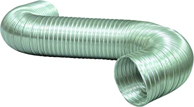 Deflecto A048/9 Semi Rigid Flexible Aluminum Duct Non Crimped, 4-Inch by 8-Feet
