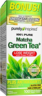 Purely Inspired, Pure Matcha Green Tea Plus 100 Easy-to-swallow Veggie Tablets