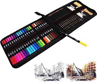 Feutres Pinceaux 24 Couleurs Feutres Aquarelle Stylo Marqueur à Pointe Double Avec Stylos à Pointe Fine +21 Pcs Crayons de...