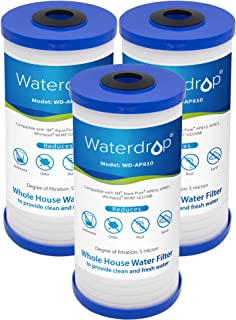 Waterdrop AP810 5 Micron Whole House Water Filter, Compatible with 3M Aqua-Pure AP810, AP801, AP811, Whirlpool WHKF-GD25BB, Pack of 3