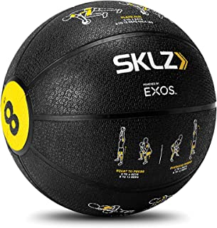 SKLZ 2881 Trainer Med Ball - Self Coaching Medicine Ball with Printed Exercise Instructions (8 pounds), Black