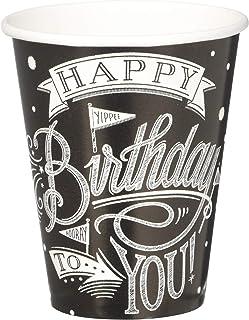 Amscan International 731670 Hooray Birthday Paper Cups 266ml, Pack of 18