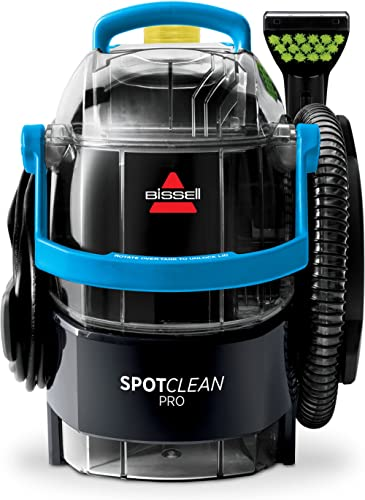 Bissell SpotClean Pro Portable Carpet Cleaner, Deep, Black/Blue