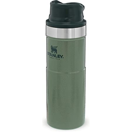 Crown Crest Black Travel Flask Thermos For Hot /& Cold Drinks